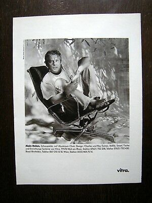 Orig. Werbung Advertising / Vitra Personalities / Coigny / Alain Delon