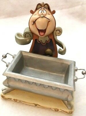 Disney Beauty And The Beast Cogsworth Desk Set Paper Clip Holder Rare!!