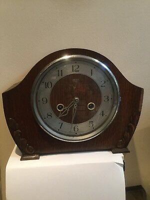 Vintage Art Deco Smiths Mantel Clock Enfield Movement - not working
