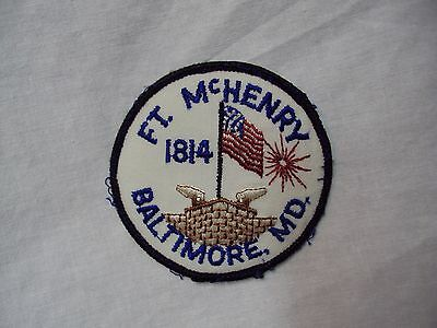 Vtg  FT. McHENRY - BALTIMORE, MD - 1814  - Embroidered PATCH