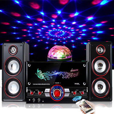 Karaoke Party Machine System Bluetooth Speaker PA Jukebox Guitar Amplifier USB