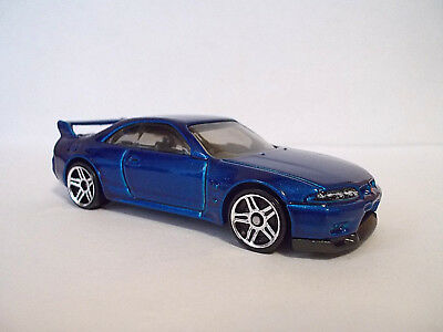 Hot Wheels Nissan Skyline GT-R R33 Blue 2018 FREE SHIP 1:64-Loose/New