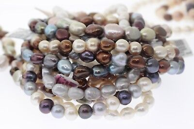 Nouveau Vente en Lot 20 Honora Assortis Multi-Colore Véritable Bracelet Perle