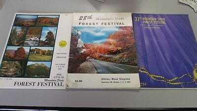 WV Mountain State Forest Festival Booklets - 1963 - 1964 - 1965