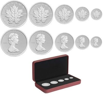 2013 Canada Fine Silver Maple Leaf Fractional Set