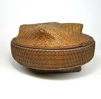 Antique storage Basket from The Kuba peoples of the Congo, Africa