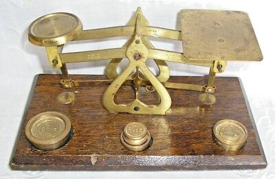 Vintage Brass Table Top Letter Scales