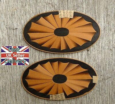 X2 Vintage Marquetry Oval Clock Decorations. Excellent. Unused. Bargain!!!!