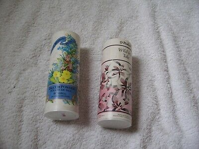 2 Vintage Unopened Talc Bluebell Woods Of Windsor, St Michael Wild Iris