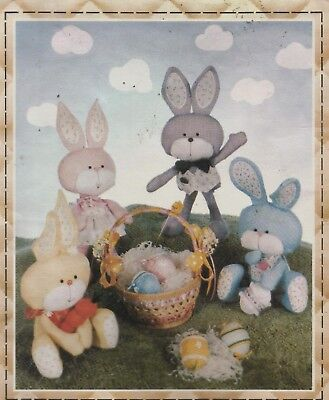 Sunday Bunny Pattern, with Sunday Clothes & Easter Eggs