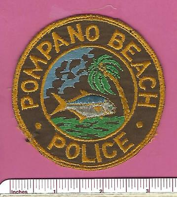 Old Pompano Beach FL Fla State of Florida Defunct Law Enf. Police Shoulder Patch