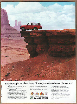 """1990 Range Rover Ad """"Lots of people use.."""" Print Ad"""