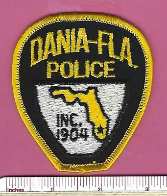 Old Dania FL Fla State of Florida Defunct Police Shoulder Patch - Broward County