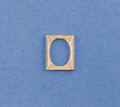 1:12 Scale Dollhouse Miniature Small Fancy Gold Picture Frame #JLM115