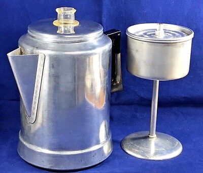 Vintage Comet Aluminum 9 Cup Coffee Pot. Excellent Condition.