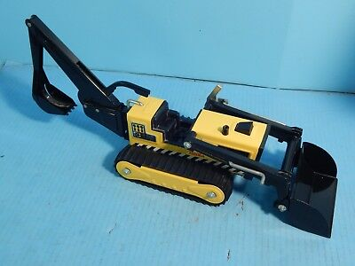 Vintage Yellow Tonka Backhoe Tractor Trencher Super Clean