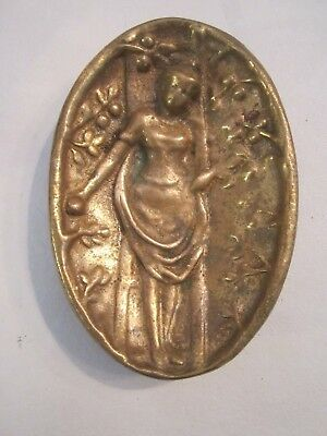 Antique ART NOUVEAU BRONZE Pin Tray NAUGHTY Nude Rare Soap Dish. Bare Bottom