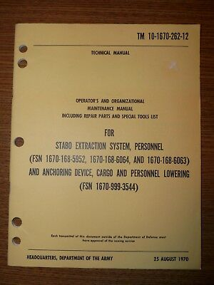 US Army Special Forces STABO Extraction System Handbook, 1970 TM 10-1670-262-12