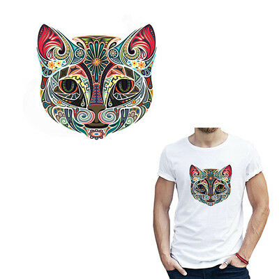 Egyptian Cat Patch Iron On Heat Transfer Patch Applique Clothes DIY Craft D