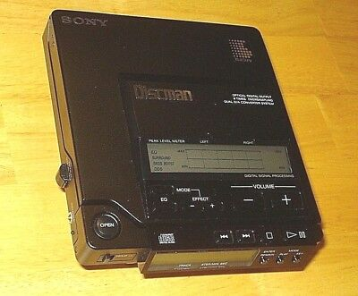 """Sony D 555 Cd Discman Player """"as Is - Not Working"""""""