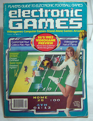 ELECTRONIC GAMES Magazine Oct. 1982 - Space Cavern, Chopper Command & More