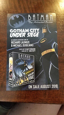 2018 Sdcc Comic Con Dc Batman Animated Series Gotham City Under Seige Promo Card