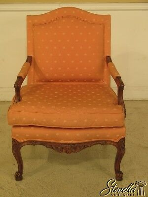 29583EC: French Louis XV Style Upholstered Open Arm Bergere Chair
