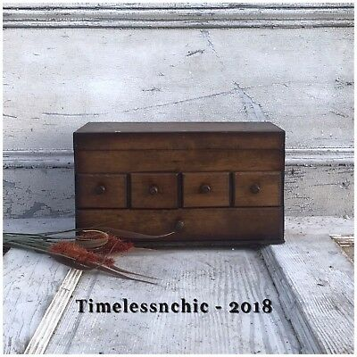 Antique Vintage Wood Spice Box/Apothecary Cabinet Vintage Kitchen~Sewing Box~