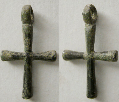 PCW-AN370-BYZANTINE EMPIRE. Ca. 10th-12th Century AD. Bronze Cross.