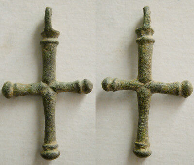 PCW-AN371-BYZANTINE EMPIRE. Ca. 10th-12th Century AD. Bronze Cross.