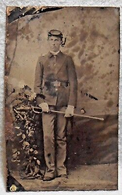 Indian Wars Relic Tin Type of an American Soldier in Uniform