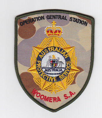 Australian Protective Service Op Central Station Woomera SA Camo Patch (social)