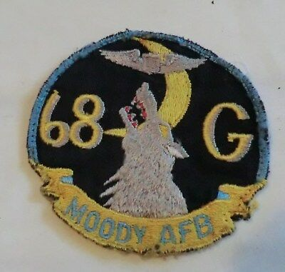 Authentic Air Force Patch 68G Moody AFB GA WWII WW2 Vintage