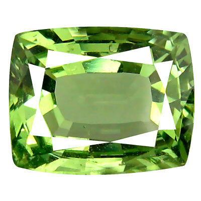 2.33 ct AMAZING CUSHION CUT (9 X 7 MM) TANZANIAN GREEN TSAVORITE GARNET GEMSTONE