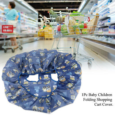Folding Shopping Cart Cushion Pad Protection Cover Seat Safety Belt Chair Mat