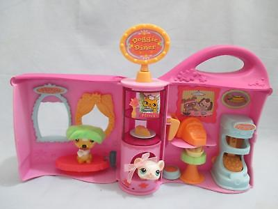 Littlest Pet Shop Doggie Diner Playset Take Out with Random Accessories Lot Lps