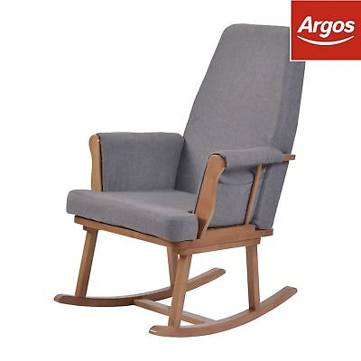 KUB Haldon Rocking Chair Dark Wood.