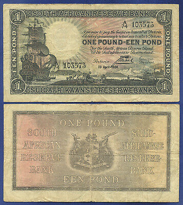 South Africa 1 Pound 1938 Reserve Bank