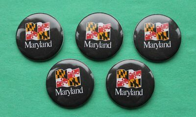 """MARYLAND Pin Back Buttons  1 3/4"""" - LOT OF 50  (FIFTY)"""