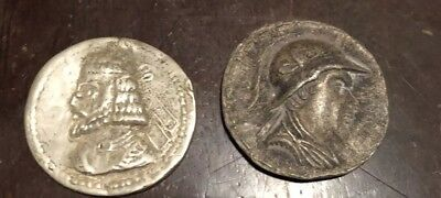 2 Ancient Silver Greek Coins