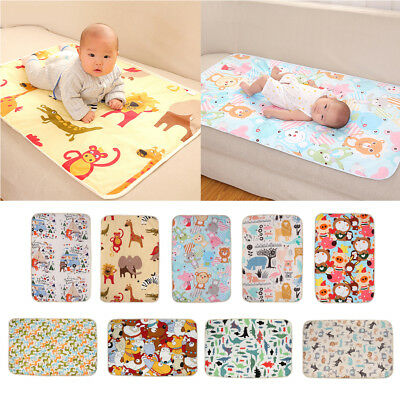 Soft Cotton Baby Infant Urine Mat Changing Pad Cover Change 3 Layer Waterproof
