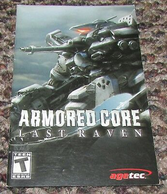 Armored Core Last Raven Instruction Manual Only for Playstation 2