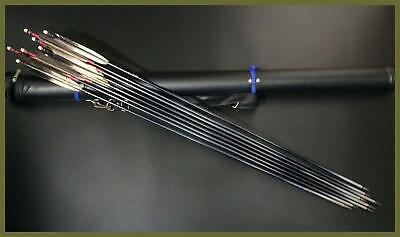 KGE55 Japanese old Kyudo 8 arrow & leather quiver  #yajiri sword armer archery