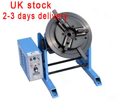 30KG Table Rotary Welding Positioner Turntable with 300mm 3 Jaw Lathe Chuck 230V