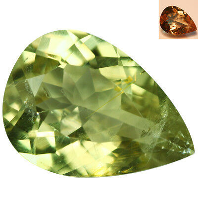 2.67Ct Exclusive Pear Cut 11 x 8 mm AAA Color Change Turkish Diaspore