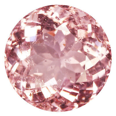 6.75Ct Flashing Round cut 13 x 13 mm 100% Natural Pink Morganite