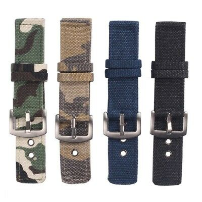 18 20 22 24mm Camouflage Nylon canvas Watch Strap Wristwatch sailcloth Band