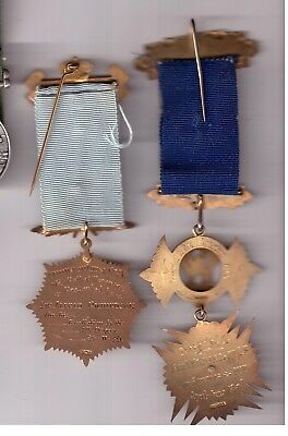 Lodge Medals Named To A Richardson One 9 Ct Gold 28Grams Silver Gilded 49 Grams