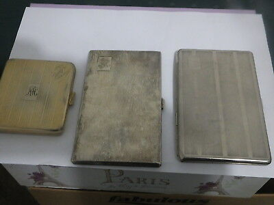 THREE EARLY MIXED cigarette CASES.