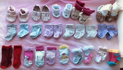 Baby Sock And Shoe Bundle 0-6 Months